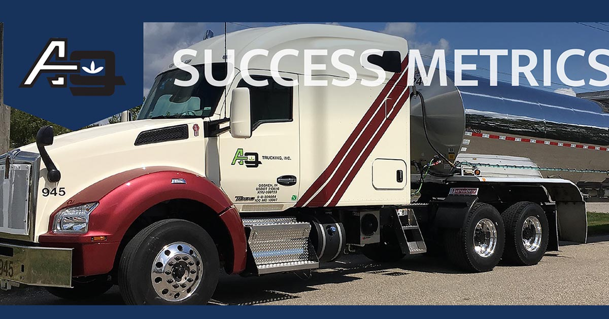 Ag Trucking truck with Success Metrics logo