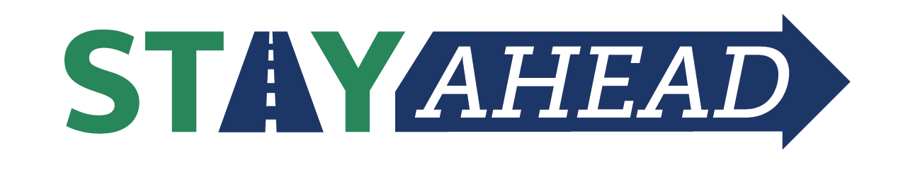 Stay Ahead logo. Program includes onboarding, exit, and ongoing driver satisfaction survey solutions.