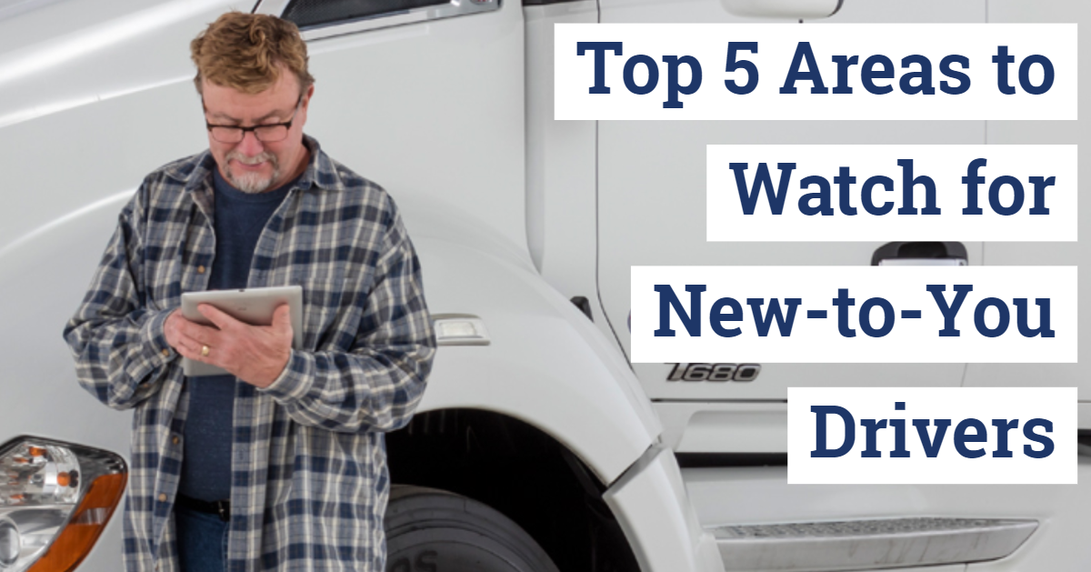 Top 5 Areas to Watch for New-to-You Drivers